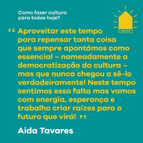 Aida Tavares | Diretora Artística Teatro São Luiz